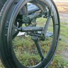 Wheelchair and mud