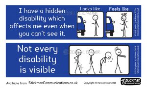 Disability stickers with a difference - Hidden Disability Stickers