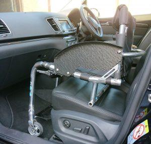 RGK Tiga Sub4 on a front seat